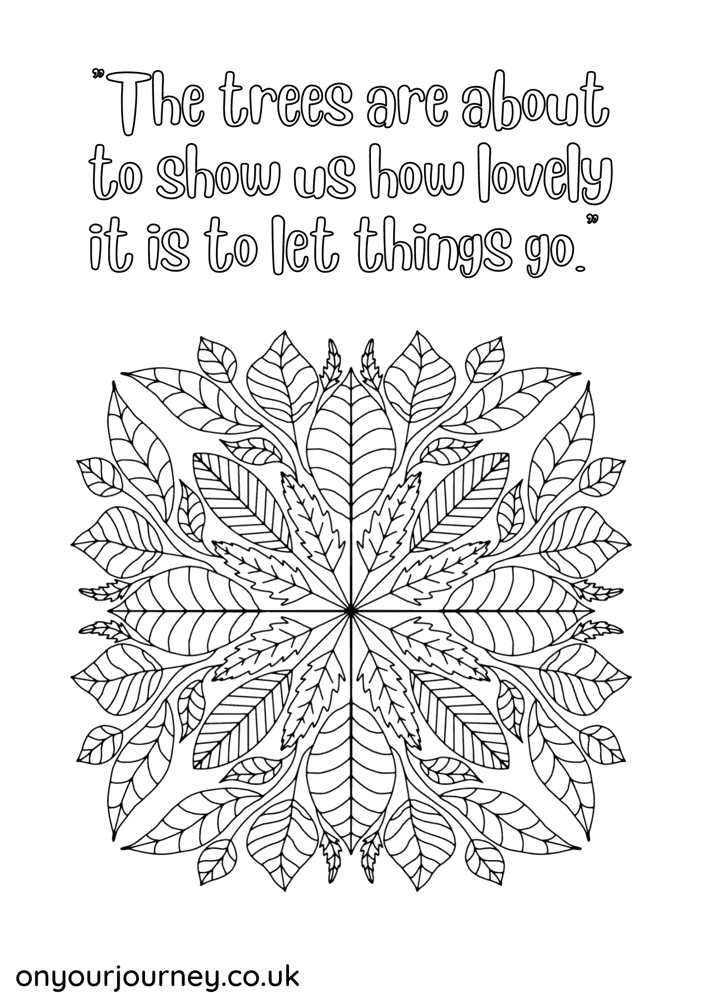 free adult coloring pages with quotes and mandalas