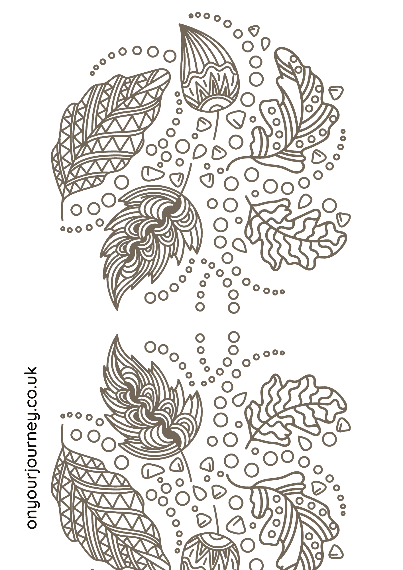 Detailed pattern coloring page for grown ups